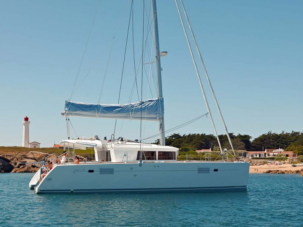 luxurious catamaran
